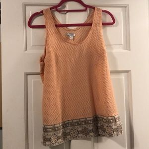 Old Navy coral patterned top-lightly worn